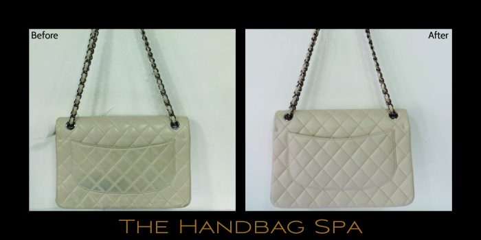 So The Team Carried Out A Chanel Handbag Cleaning Dye Transfer Removal And Colour Restoration Treatment To Re Leather