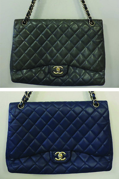 84e624cec8cf47 Well loved, well used and in need of a new lease of life, this faded  lambskin bag was in much need of a Chanel Handbag Cleaning and Full Colour  Restoration ...