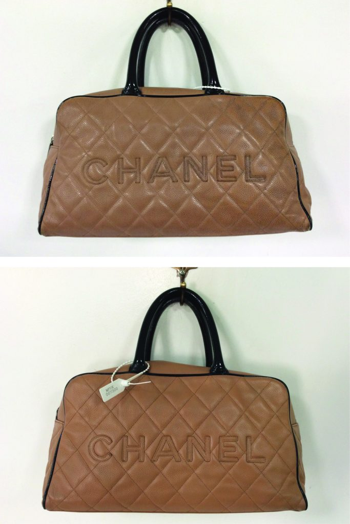 This Beige Chanel Gst Was Lovingly Treated At The Handbag Spa With A Full Clean Dye Transfer Removal Colour Refresh And Handle