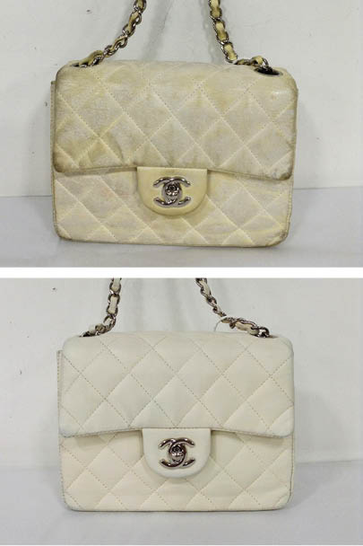 6f10be974e617f This beautiful Chanel Jumbo Classic Flap came in looking tired, faded and  in need of full colour restoration. The handbag was cleaned inside & out  and the ...