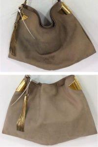 Gucci nubuck bag stain clean