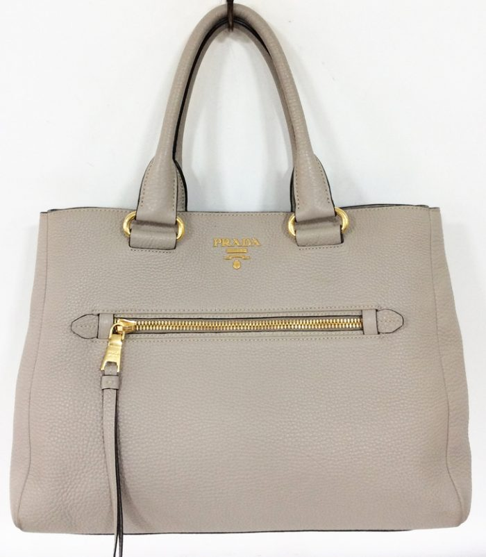 Prada Deerskin Leather Handbag